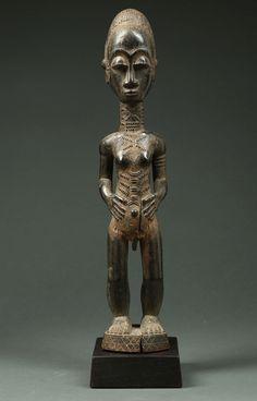 Baule Male Shrine Figure (1890 - 1910)-figure-2.jpg (1280×2000)
