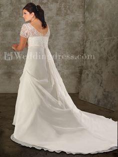nice wedding gown,short sheer sleeves