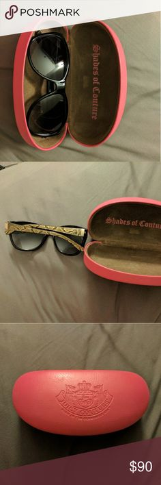 Authentic Juicy Couture shades Juicy couture shades, in great condition ( case include) Juicy Couture Accessories Sunglasses