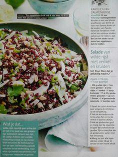 Salade van wilde rijst met venkel en kruiden PN Just Cooking, Cobb Salad, Sprouts, Vegetables, Food, Salad, Essen, Vegetable Recipes, Meals