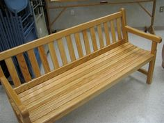 Porch bench plans The classic garden bench Jason builds a custom bench that makes a good first carpentry project Step by step instructions Diy Bench, Bench With Storage, Storage Benches, Potting Benches, Garden Benches, Plywood Storage, Metal Storage Cabinets, Bunk Bed Plans, Bench Plans