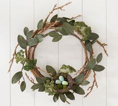 Rustic Easter Wreath With Nest #potterybarn