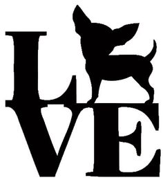 Chihuahua Love Animal Car Bumper Vehicle Sticker by JustBlingit30