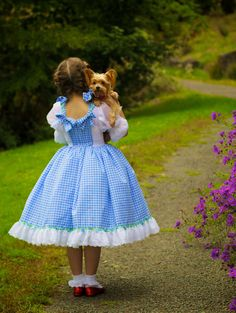 Dorothy Costume Wizard of Oz Inspired Judy Garland by Ella Dynae, $210.00 #rubyslippers #yellowbrickroad