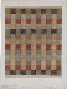 Anni Albers, Design for a jute rug, 1927 watercolor and india ink on paper 135⁄8 × 103⁄8 in. (34.6 × 26.3 cm)