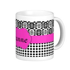 Add your name or initials or whatever you want. Two Toned Add A Monogram Pattern Mugs