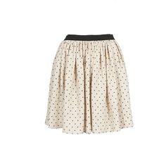 Sea Ny Beige And Black Stars Print Skirt ($440) ❤ liked on Polyvore