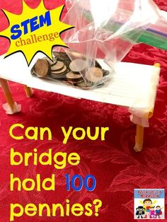 Kindergarten stem - STEM challenge Design a bridge – Kindergarten stem School Age Activities, Steam Activities, Science Activities, Science Lessons, Science Education, Science Experiments, Science Crafts, Space Activities, Children Activities