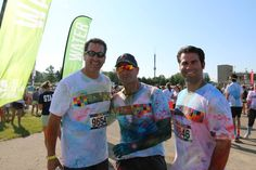 Actor Rob Riggle and friends at the All Star Color Run yesterday
