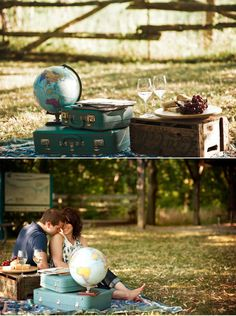 Travel inspired engagement shoot. Oh the places we will go!!! :)  The Rhudy's taking on the world!