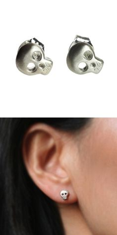 Tiny Skull Earrings -- perfect for Halloween
