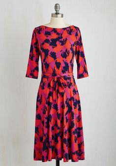 Fair and Times Square Dress. Be the center of attention admist bright lights, big city charm when you don this vibrant, midi dress by Leota. #multi #modcloth