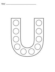Free Letter E DoADot Printables  Uppercase  Lowercase