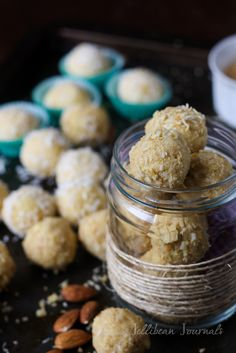Homemade Raffaello Candy - now you can make the best almond candies right at home! Guest post by @Jelli Bee Bee Bee Bee {Jellibean Journals}!