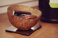 Multi purpose coconut desktop holder