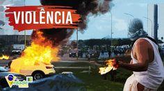Cobertura COMPLETA do PROTESTO TUMULTUADO em Brasília