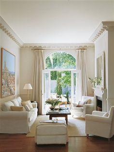 Living room- white sofas