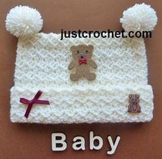 Free baby crochet pattern pom pom hat usa