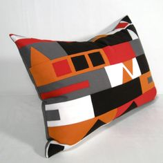 Hey, I found this really awesome Etsy listing at https://www.etsy.com/listing/164564483/retro-pillow-cushion-brown-red-grey-mid
