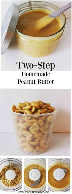 Only two steps to make your own peanut butter. Nothing additional needed and you will have delicious, homemade peanut butter. You don't have to worry about additives and other chemicals. Just peanuts!