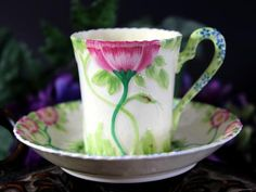 Demitasse Royal Grafton, Garden Glories, Tea Cup and Saucer 12343 - The Vintage Teacup - 1