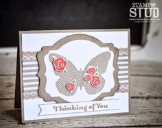 Stampin' Stud: CYCI#70 May I Give you Flowers... Stampin' Up! Butterfly, Floral Wings,