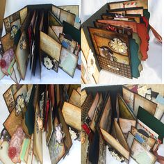 Travel Journal Mini Album Scrapbook. Use this idea for any kind of journal.