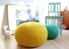Knit Stool | 30 Knitting Projects That Are Perfect For Summer