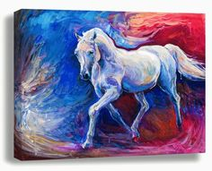 Original horse painting-horse oil painting-Modern oil painting-animal art-horse decor-fine art work-hand painted on canvas by Ivailo Nikolov Horse Oil Painting, Modern Oil Painting, Oil Painting Abstract, Canvas Artwork, Canvas Art Prints, Painting Prints, Painting Trees, Painting People, Painted Horses