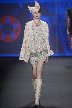 Look 4 Anna Sui Spring 2013 #lace