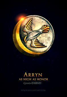 House Arryn ~ Game of Thrones Fan Art by Jie Feng