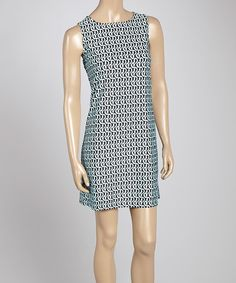 Loving this Blue Abstract Sleeveless Dress on #zulily! #zulilyfinds