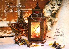 Artikel - Grafik Werkstatt Bielefeld Christmas Pictures, Lanterns, Merry Christmas, Happy Birthday, Clip Art, Holiday Decor, Painting, Glass Bottle, Xmas