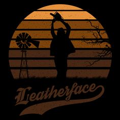 Horror Sun Set Leatherface #texas #texaschainsawmassacre #leatherface #horror #film #apparel #tee