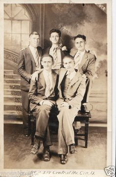 Male bonding in Cincinnati, early 1900s.  SOLD