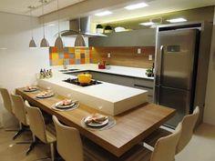 Reforma de Cozinha - Florianópolis: Cozinhas modernas por Marina Turnes Arquitetura & Interiores