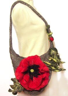 Felted handbag Poppy ♡