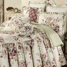 Cherish Gathered Floral Oversized Bedspread