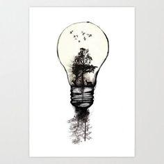 Lightbulb surrealism