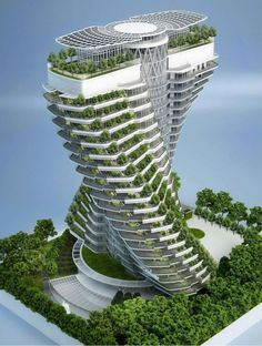 Agora Tower in Taipei, Taiwan by Vincent Callebaut
