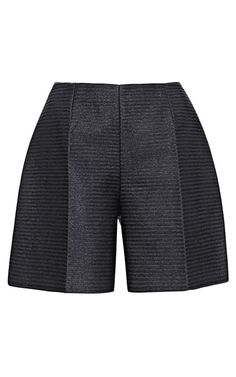 Shop High-Waisted Oversized Raffia Shorts by Carven Now Available on Moda Operandi
