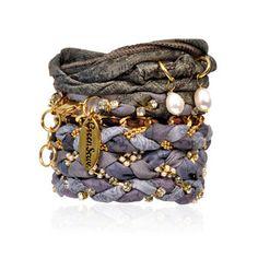 Six Stack Midnight Bracelet  by Greensewn