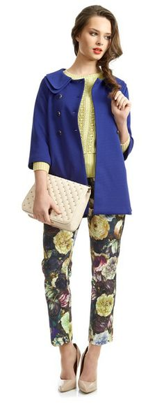 A great outerwear piece is a Spring must-have, team with a pastel knit and printed tapered trousers. This look is guaranteed to keep you looking stylish come rain or shine. You Look, Get The Look, Tapered Trousers, Must Haves, Rain, Pastel, Printed, Clothes For Women, Knitting