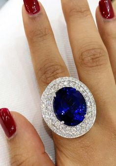 Tanzanite royal blue ring ! #sunitanahataofficial