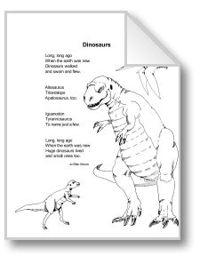 This dinosaur unit provides 10 reproducible pages of information for students in grades 1-3 with the suggestion that each child create a dinosaur book. Topics include dinosaur sizes, life cycles, what they eat, how they moved, how they protected themselves, other prehistoric animals, and if they disappeared.
