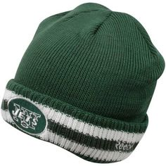 Reebok New York Jets Sideline Coaches Cuffed Knit Hat One Size Fits All by Reebok. Save 41 Off!. $10.69. Cuffed knit hat. Ribbed constructionNFL® team color design with secondary-color stripes. Embroidered team logo on front and NFL® shield on back Officially licensed Made in Bangladesh. 60% cotton, 40% acrylic. Stay warm and look great in the Reebok® Sideline Coaches cuffed knit hat. The team-color hat you've seen on your favorite NFL® coach features secondary-color team stripes,...