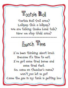 1000+ images about classroom chants on Pinterest   Tootsie ...
