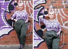 First Look: Moody Hues - This is Meagan Kerr Curvy Fashion, Plus Size Fashion, Harem Pants, Trousers, Tights, Leggings, Slacks, Drill, Joggers