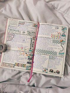 Bullet journal - weekly layout idea