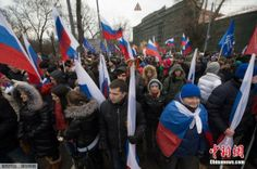 当地时间2014年3月2日,俄罗斯莫斯科,俄民众举行大规模集会,声援在克里米亚的乌克兰人及俄语民众,反对乌克兰新政府,对普京出兵乌克兰表示支持。 ▼4Mar2014中国新闻网|乌克兰称俄再度增兵 俄不惧美制裁威胁持续角力 http://www.chinanews.com/gj/2014/03-04/5904972.shtml #Russia #Rusia #Russie #Russland #Moskva #Moscow #Ukraine #Ucrania #Ukraine